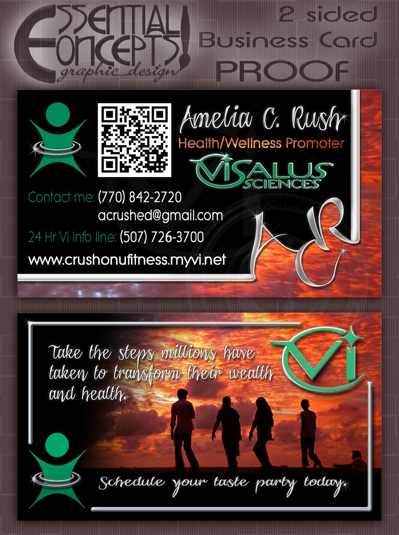 A business card like no other 2 sided business card preview reheart Gallery